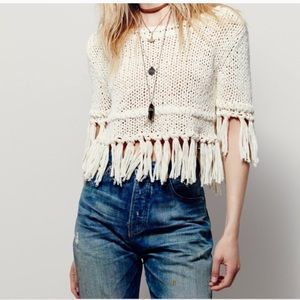 Free People Hand-Woven Crop Top